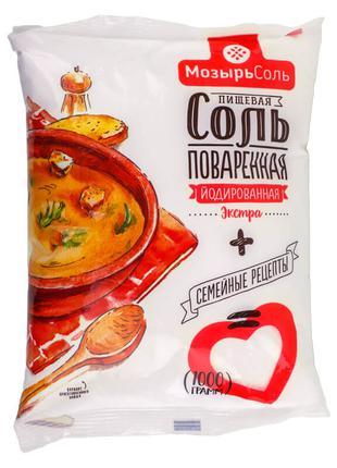 Соль поваренная пищевая выварочная экстра йодированная «Полесье»