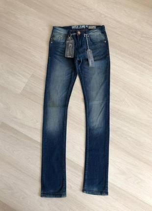 Новые джинсы цвета индиго, модель супер слим и скинни