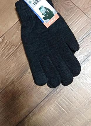 Перчатки варежки рукавицы для телефона шерстяные шерсть мужски...
