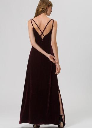 Бархатное вечернее, макси платье в пол, открытая спина/ на нов...