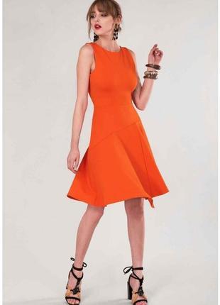 Оранжевое платье closet london. размер м