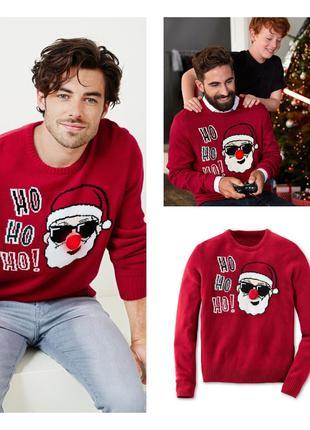 Джемпер свитер пуловер новогодний рождественский L 52 54 Tchibo