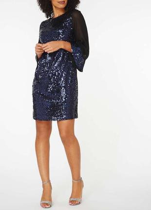 Новогоднее платье в пайетки billie & blossom . на размер м-л