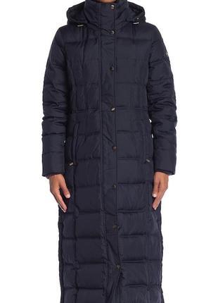 Длинное пуховое пальто пуховик от michael kors. размер м