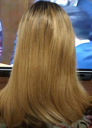 Новый натуральный реалистичный парик Реми высокого качества блонд