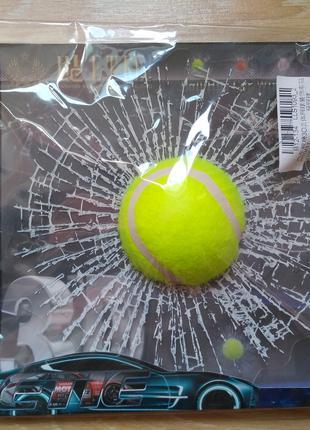Наклейка на авто Мячик Теннисный прикол, шутка