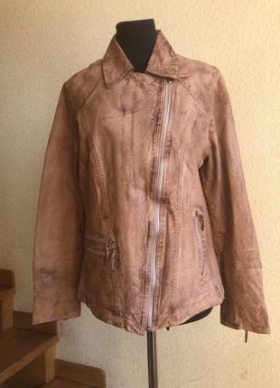Кожаная куртка -косуха  broch leather(германия)