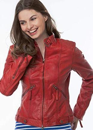 Кожаная куртка gipsy (германия)  красного цвета