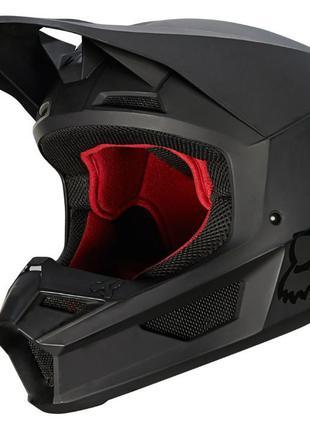 NEW 2021 Мотошлем FOX V1 Matte Black. Кроссовый мото шлем. Энд...