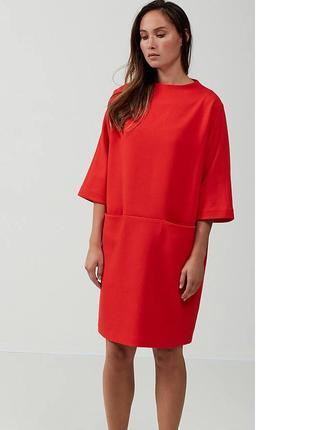 Платье кокон, красное от selected femme