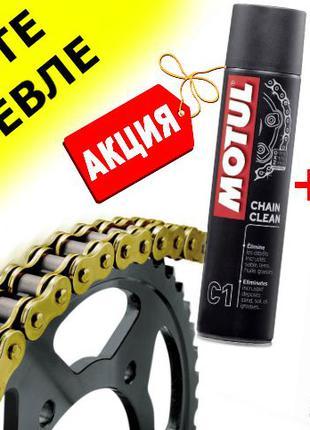МОТО Смазка цепи + очиститель для цепи мотоцикла (чистка) MOTU...