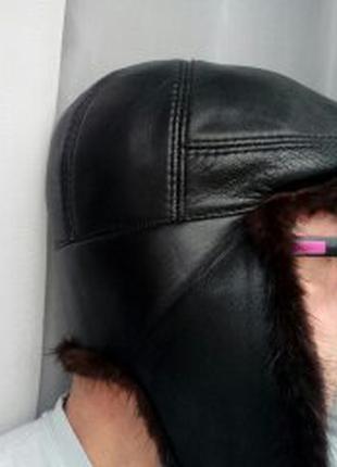 Кепка кожа норка размер 55