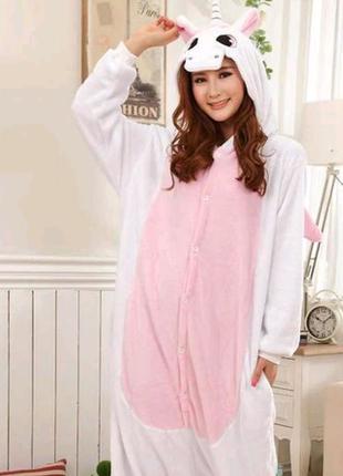 Пижама кигуруми единорог розовый (Kigurumi)