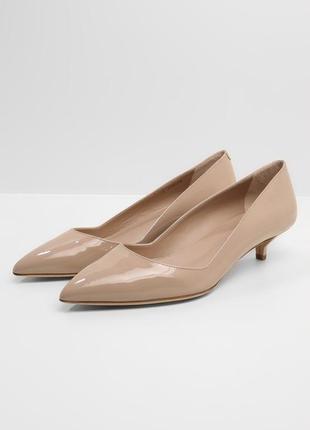 Кожаные лаковые туфли лодочки hugo boss, оригинал