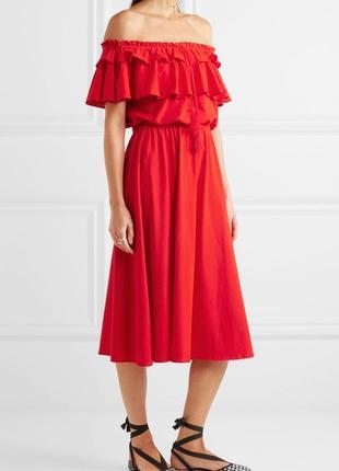 Красноеплатье миди по колено брендаj crew