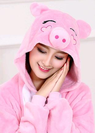 Пижама кигуруми свинка розовая - kigurumi