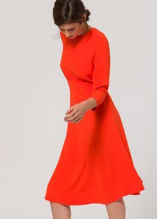 Оранжевое платье по колено миди брендаivy&oak, xl