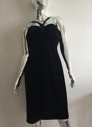 Вечернее платье велюр chi