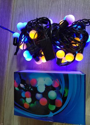 Светодиодная гирлянда  ШАРИКИ 40 LED 7метров