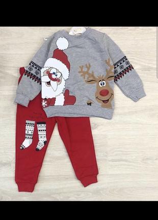 Костюм тёплый зимний детский новогодний нарядный рождественский