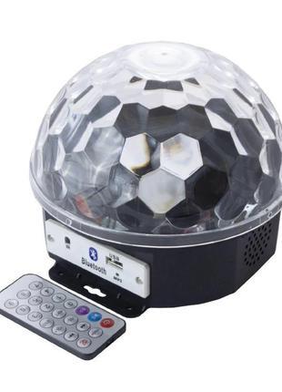 Светодиодный диско шар Crownberg CB-0305 BT с мр3 та блютузом