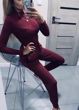 Костюм штаны  брюки свитер водолазка кофта