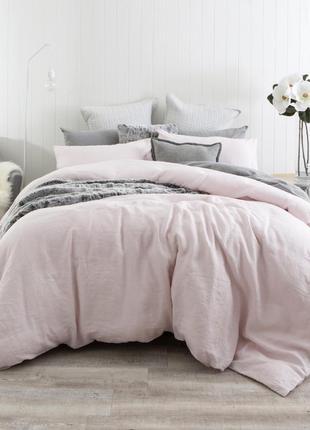 H&m  -двухспальный комплект постельного белья из стираного льна