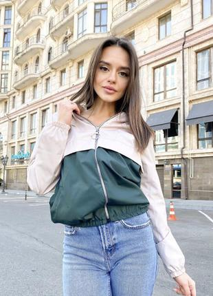 Ветровка куртка бомбер женский