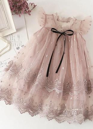 Платье детское нарядное фатин кружево