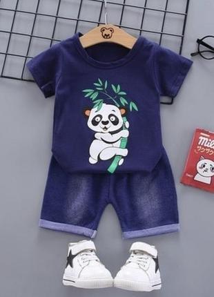 Детский костюм шорты бриджи футболка