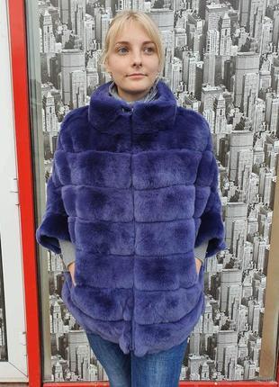 Натуральная шуба кролик рекс свитер