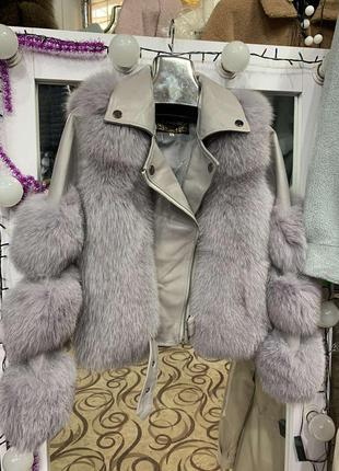 Куртка дублёнка песец мех натуральный