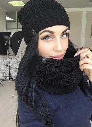Шапка снуд шарф набор
