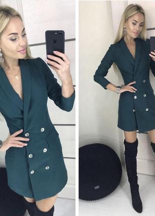 Платье пиджак смокинг пуговицы