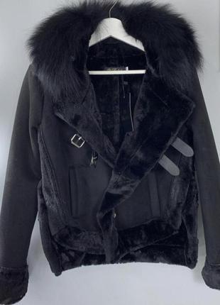 Дублёнка куртка косуха тёплая эко мех