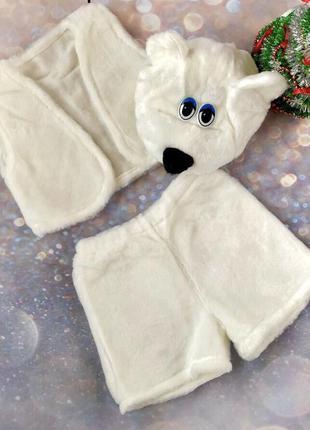 Детский карнавальный маскарадный костюм медведь маска