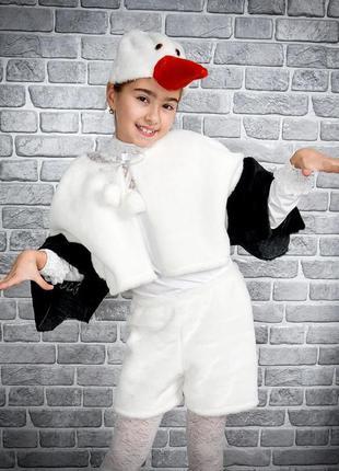 Детский карнавальный маскарадный костюм маска аист