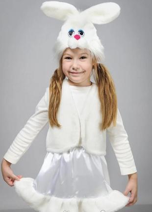 Детский карнавальный маскарадный костюм маска заяц