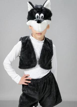 Детский карнавальный маскарадный костюм маска волк
