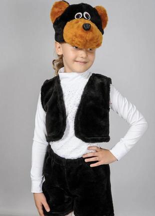 Детский карнавальный маскарадный костюм маска медведь