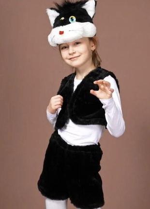 Детский карнавальный маскарадный костюм маска кот