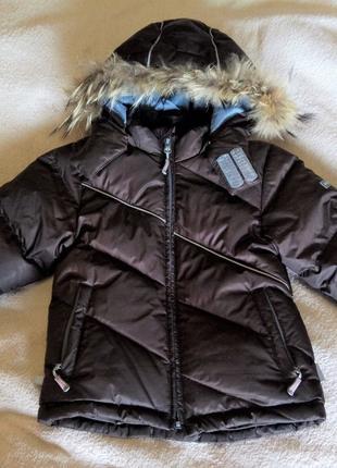 Теплый стеганый зимний пуховик, пуховая куртка Huppa р. 104-110