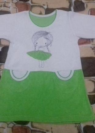 Детское платье с рукавом на 2-3 года