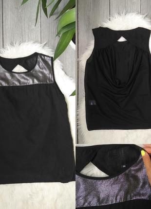 🔥акция 1+1=3🔥шикарная оригинальная черная блузка спереди блест...