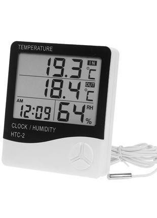 Термогигрометр Generic HTC-2 часы будильник метеостанция градусни