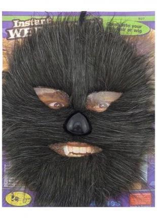 Карнавальный костюм чубакка маска меховая черная