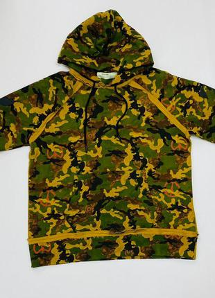 Толстовка Off-White printed camo cotton hoodie in green