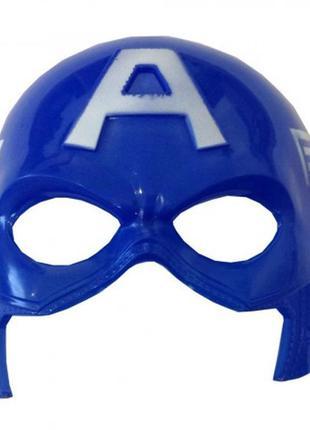 Карнавальный костюм капитан америка маска пластиковая