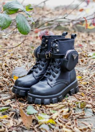 Ботинки Prada Monolith Black
