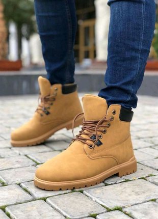 Мужские Ботинки Тимберленд Коричневые Зима